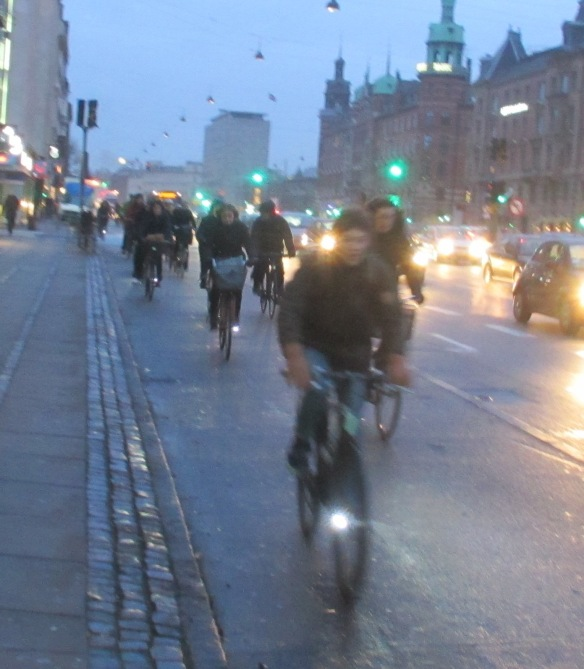 Cyclists morning Copenhagen