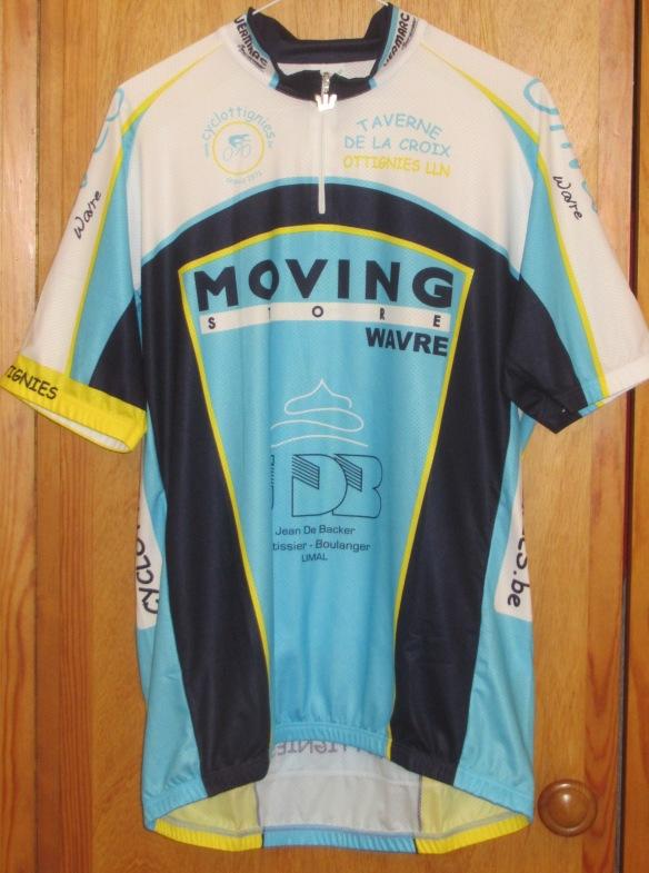 Cyclottignies new cycling shirt