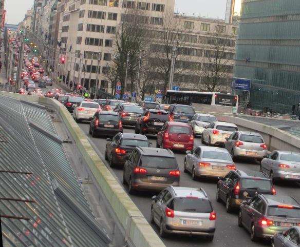Rue de la Loi congestion Brussels