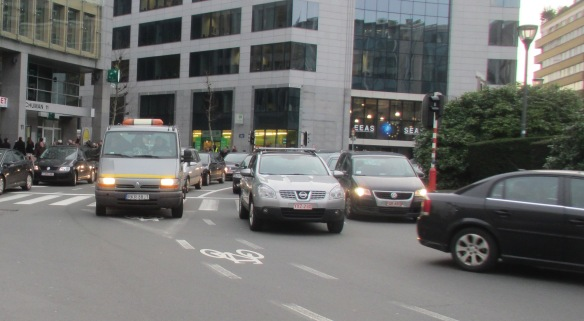 Schumann cycle lanes Brussels