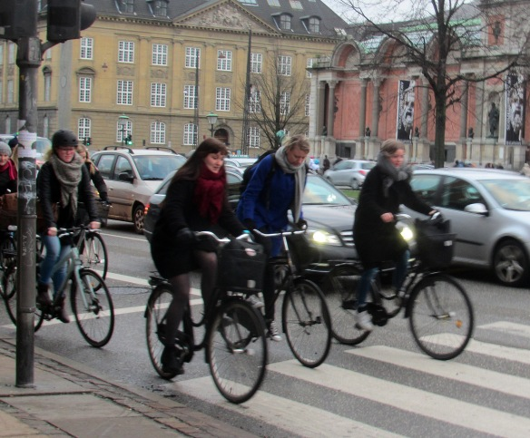 Speedy cyclists in Copenhagen