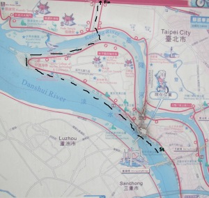 Cycle route map Taipei