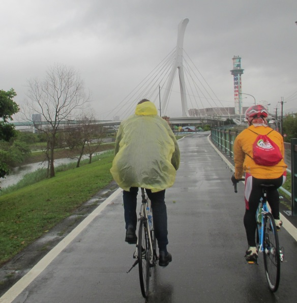 Taipei cycle path and bridges