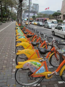 Youbikes of Taipei
