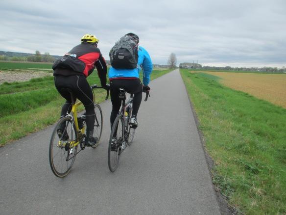 Cycle touring path near Oudenaarde