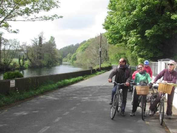 Cycling the River Liffey, Ireland