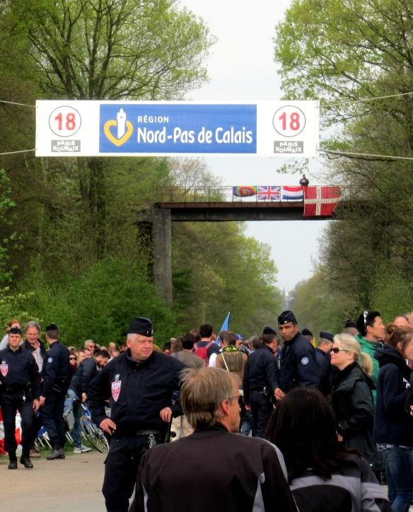 entrance to the Arenberg paris Roubaix