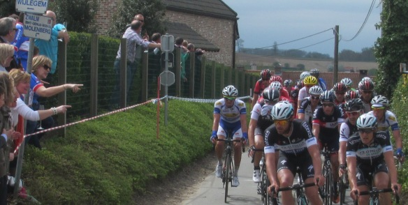 Look its Tom Boonen at Tour of Flanders