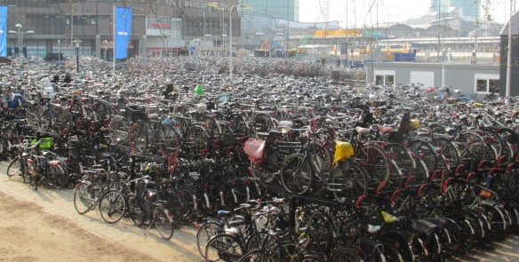 sea of bikes Utrecht