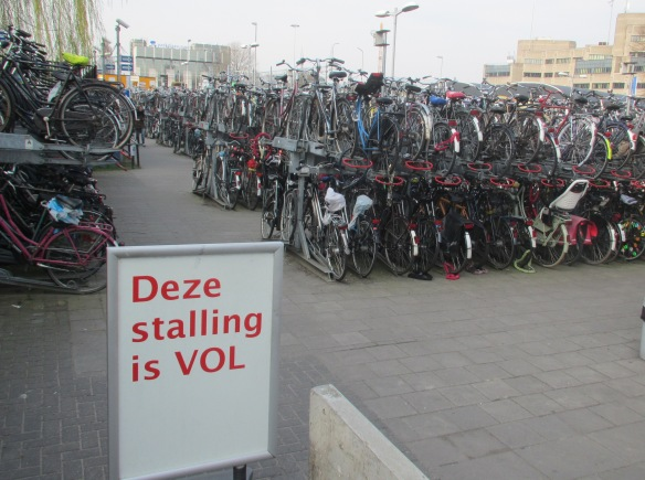 This parking is full Cycle Parking Utrecht