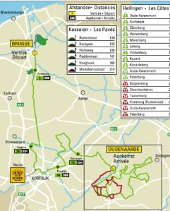 Official Route Map (from Flanders Classics)