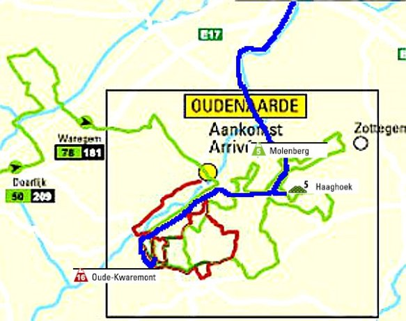 Tour of Flanders our route