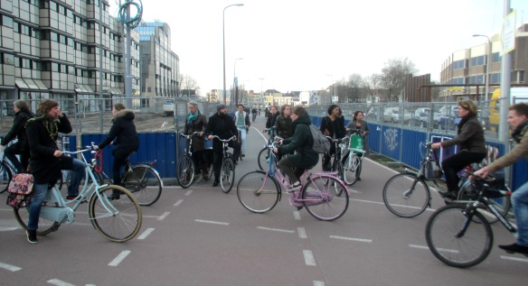 Utrecht cycling traffic congestion