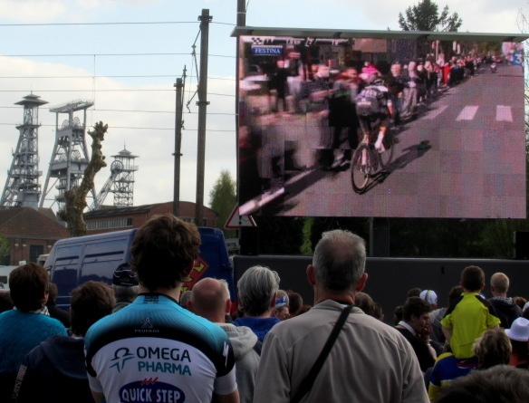 Watching Paris Roubaix at Arenberg