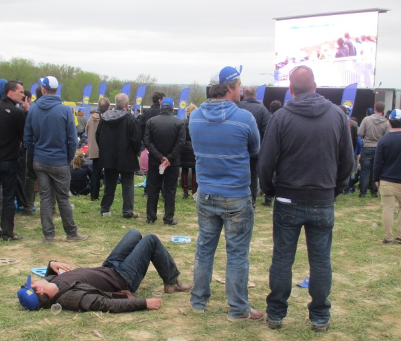 Watching the Tour of Flanders