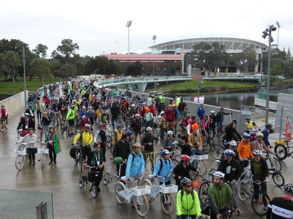 Adelaide's cycling bridge Velo-city 2014
