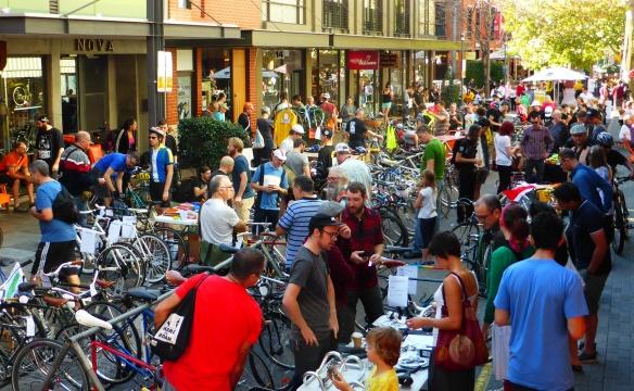 Bikes and Baristas street Market Velo-city 2014 Adelaide