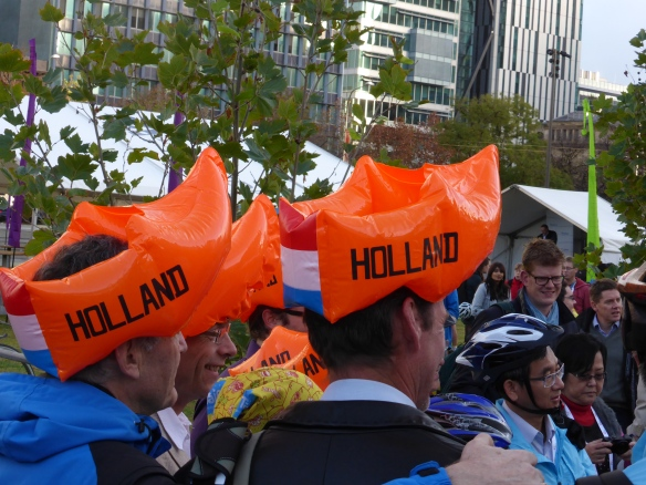 Dutch cycle helmets at Adelaide Velo-city