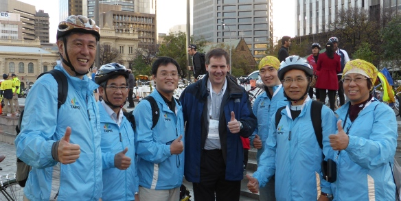 Friends from Taipei at Velo-city 2014
