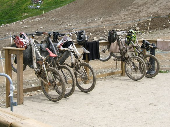 Whistler Bike park, cycle parking