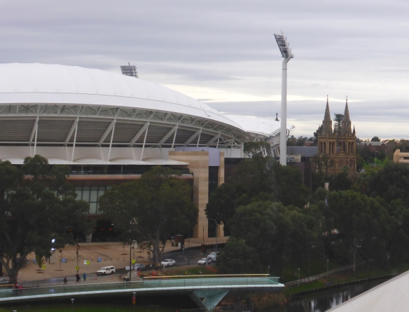 Adelaide Oval and Adelaide cathedral