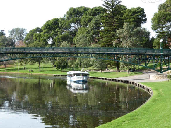 Cruise boat on the Torrens river Adelaide