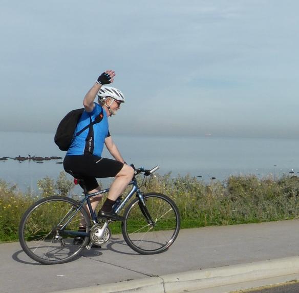 Jens Loft Rasmussen cycling in Williamstown