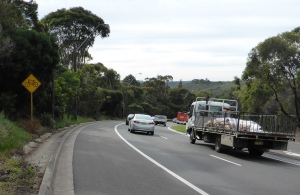 Mona Vale Road cycle path Sydney