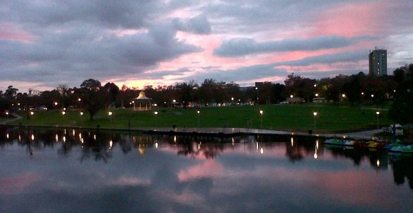 Torrens River Sunrise Adelaide