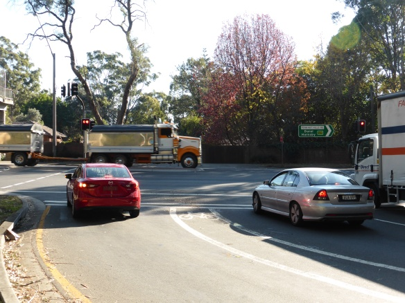 Beecroft Road Pennant Hills Road cycling facility