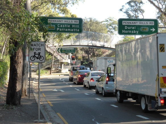 Beecroft Road Pennant Hills road junction