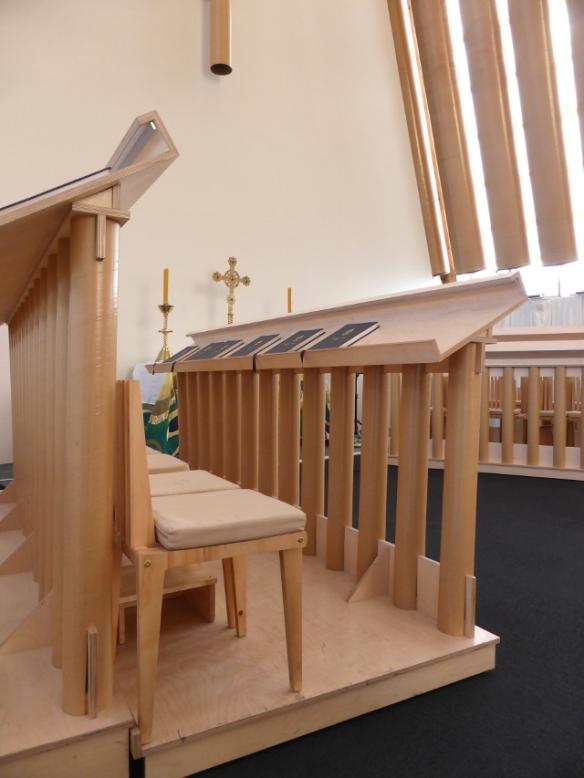 Cardboard Cathedral choir stall Christchurch