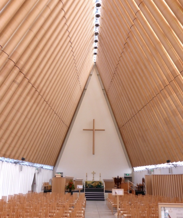 Cardboard Cathedral Christchurch interior
