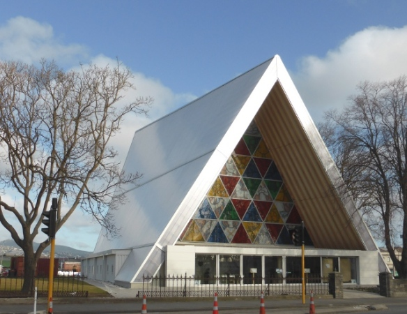 Cardboard Cathedral exterior Christchurch