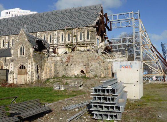 Cathedral earthquake damage Christchurch New Zealand