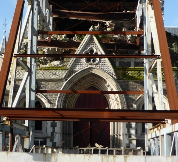Cathedral Entrance earthquake damage Christchurch