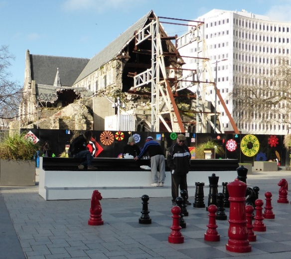 Cathedral Square Christchurch earthquake damage New Zealand