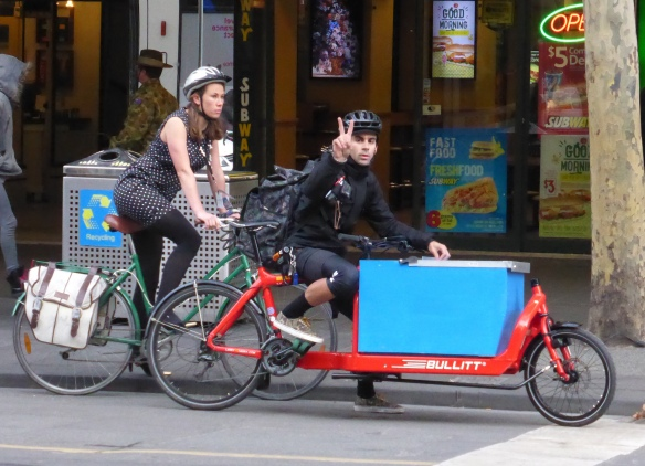 Cyclists in Melbourne