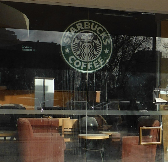 Earthquake Damaged Starbucks Christchurch New Zealand