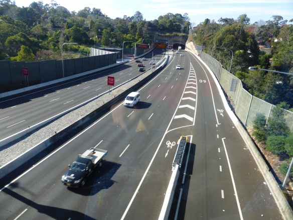 M2 cycleway at junction Sydney