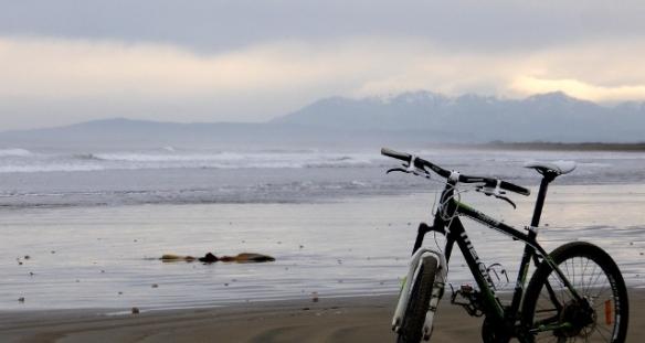 Oreti Beach in winter Invercargill