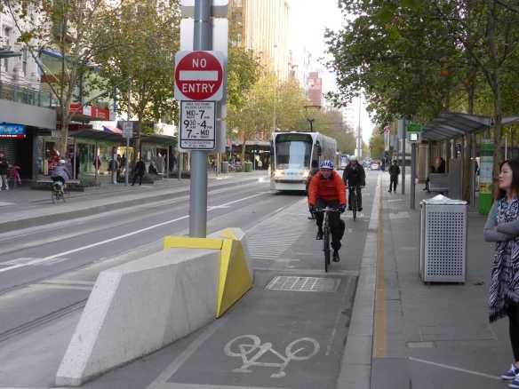 Melbourne CBD cycle path