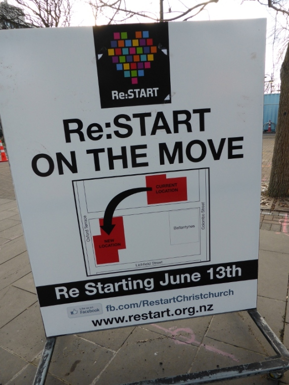 ReStart Christchurch on the move