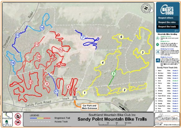 Sandy Point Trail map