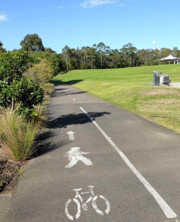 Shared use cycle path Olympic Park Sydney