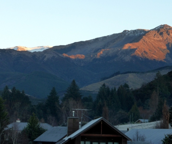 Sunrise over mountains Hanmer Springs