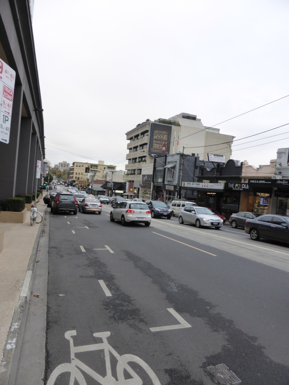 Toorak Road Melbourne part time cycle lane