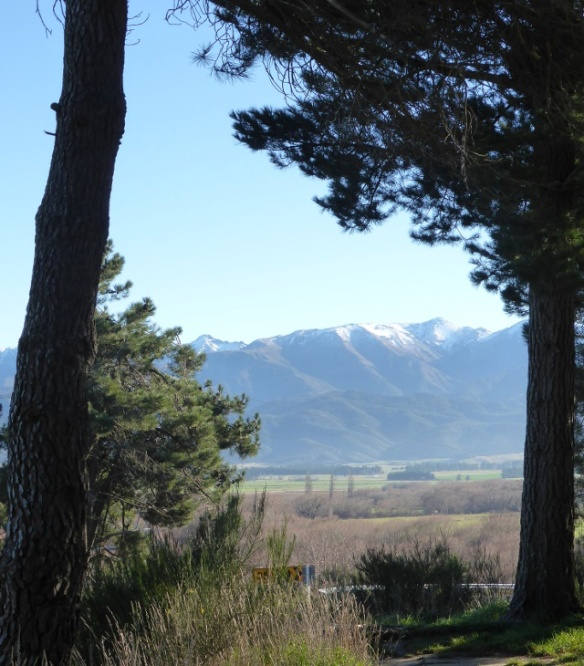 View of Southern Alps from Hanmer Springs Road