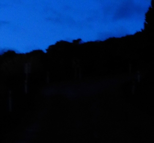 Bluff Hill Flagstaff Road in the dark New Zealand