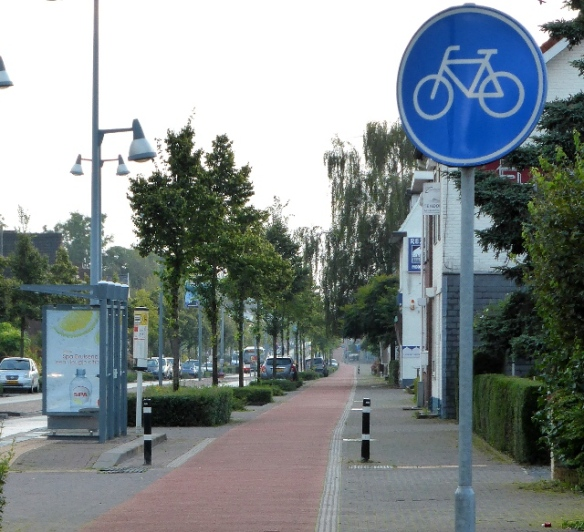 Cycle path Geleen Netherlands